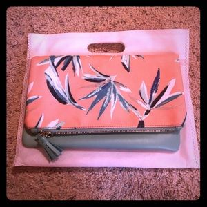 Rachel Pally Reversible Palm Clutch - Mint, Pink